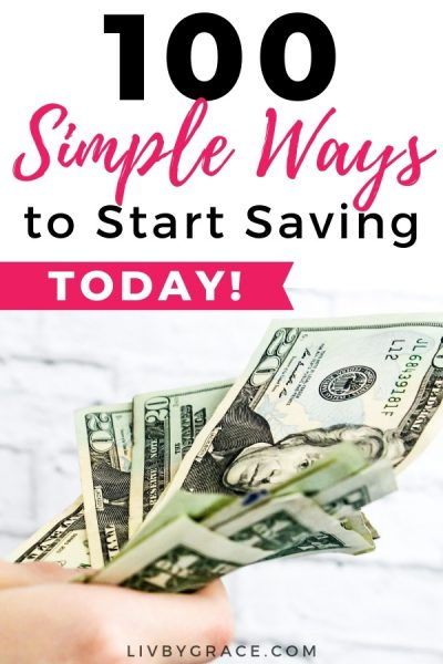 100 Surprisingly Simple Ways to Start Saving Money Today | save money | savings | saving money | cutting costs | ways to save | simple savings #waystosave #savings #savemoney #cutcosts #cuttingcosts #simplewaystosave