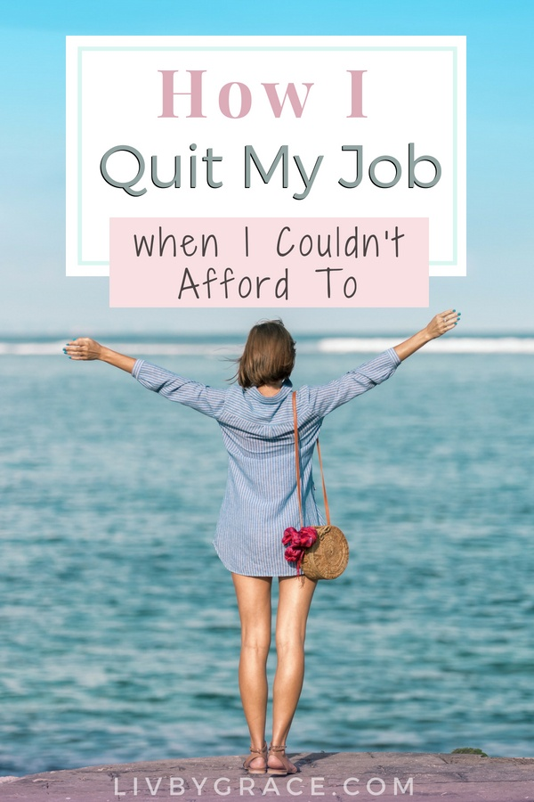 How I Quit My Job When I Couldn't Afford To | how to quit my job | resignation | can't afford | cut costs | save money | budgeting | small income | #quityourjob #resignation #cutcosts #savemoney #budgeting #smallincome