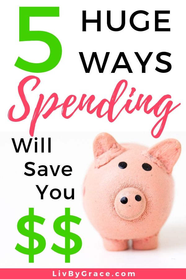 5 Huge Ways that Spending Can Save You Money | saving money | how to save more money | easy ways to save | ways to save money | spending wisely | investing money #hugesavings #savingmoney #howtosavemoremoney #easywaystosave #investing #spendingwisely #saving #spending
