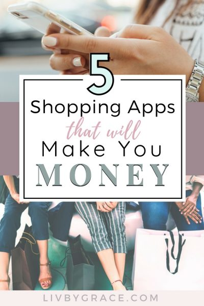 Make Money with these 5 Shopping Apps | make money | shopping apps | earn money | money with apps | grocery savings | shopping rebates #shoppingapps #makemoney #makemoneywithapps #earnmoney #rebates #grocerysavings #discounts #coupons #budgeting
