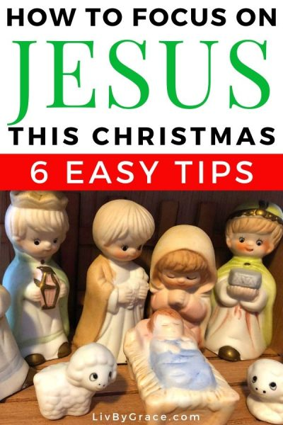 6 Ways to Keep Your Focus on Jesus at Christmas (with FREE wallpaper)