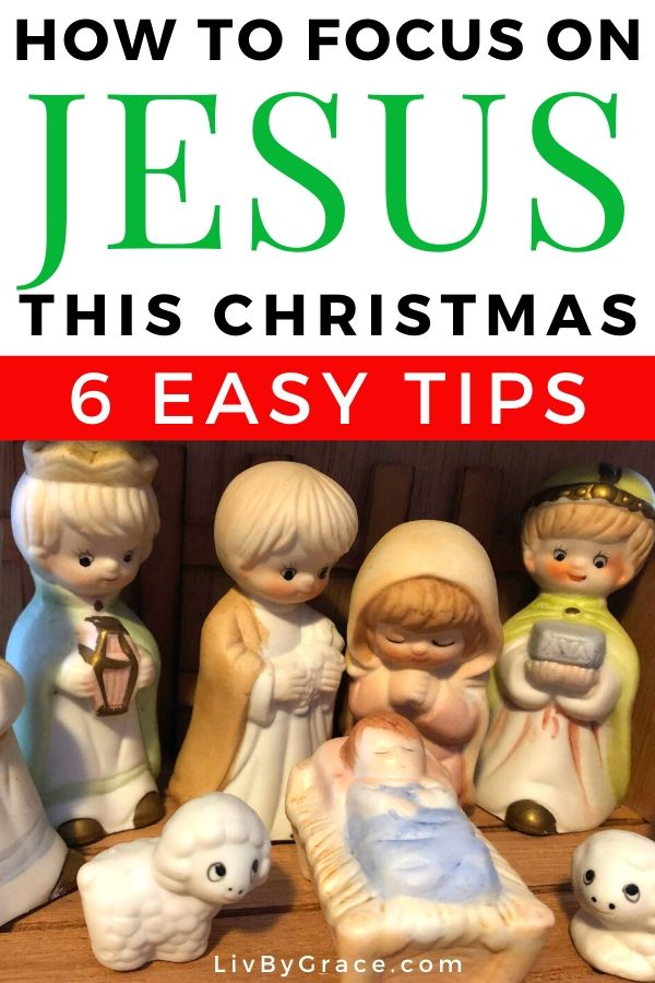 6 Ways to Keep Your Focus on Jesus at Christmas | Christmas | Jesus | Christ | Focus | Focus on Christ #Christmas #ChristinChristmas #focusonJesus #focus #Jesus #JesusatChristmas #focusatChristmas