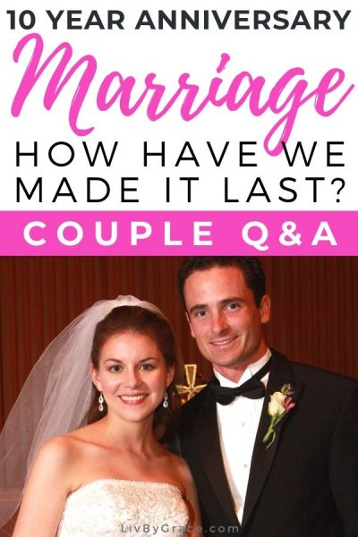 8 Reflections on Our First Decade of Marriage: Couple Q&A | wedding | anniversary | strong marriage | reflections | faith | Christian marriage | #marriage #ChristianMarriage #Christian #anniversary #wedding #faith #strongmarriage #reflections #QandA