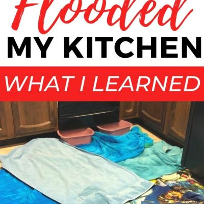How the Dishwasher Flooded My Kitchen and What I Learned