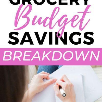 My 2-Week Grocery Budget Savings Breakdown