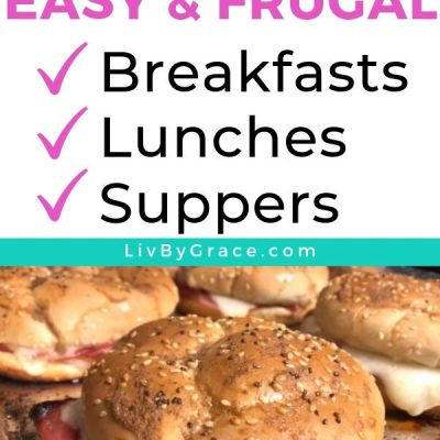 My 2-Week Meal Plan of Frugal Breakfasts, Lunches, and Suppers